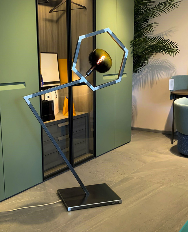 brakio lampadaire industriel metal