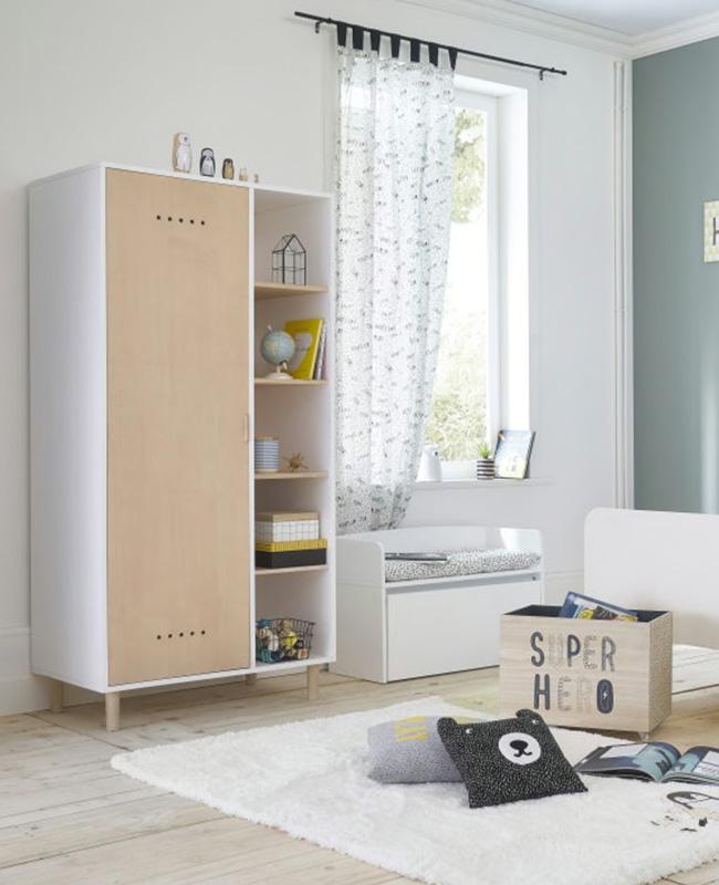 armoire moderne blanc bois