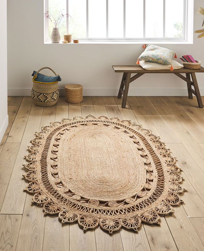 French days la redoute 2020 tapis jute ovale
