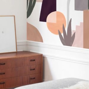 papier peint motif abstrait