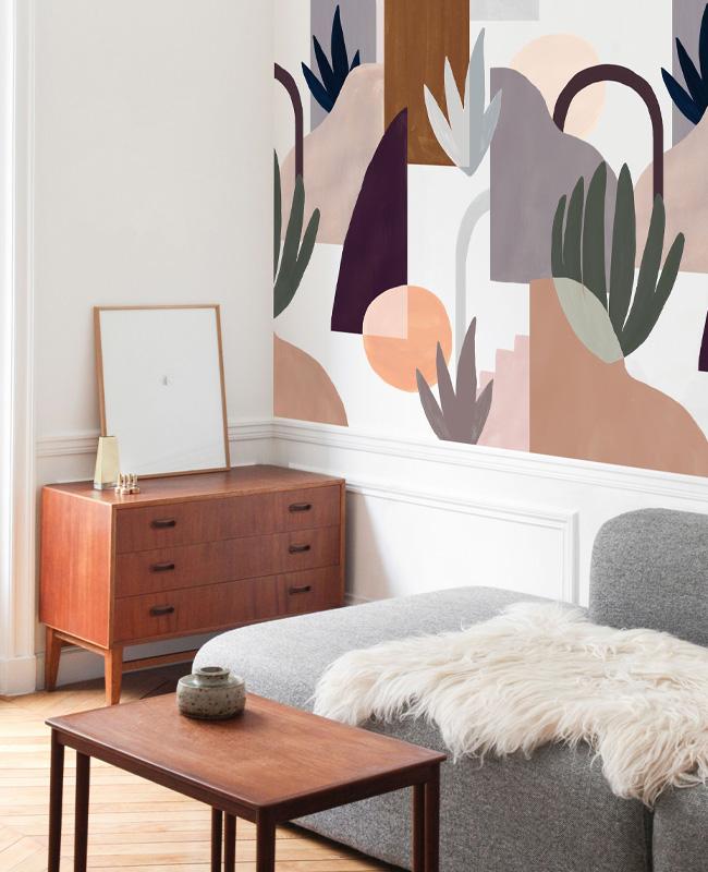 papier peint grand motif abstrait heju