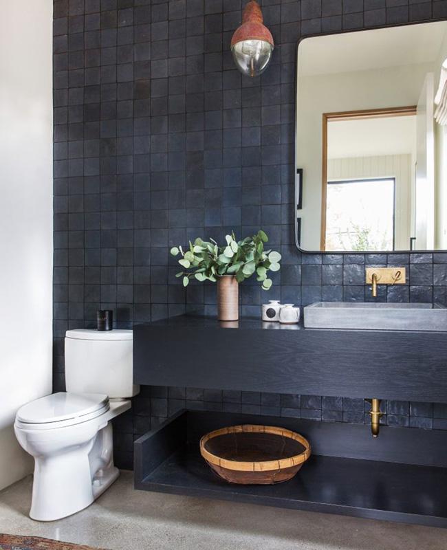 deco salle de bain zellige noir