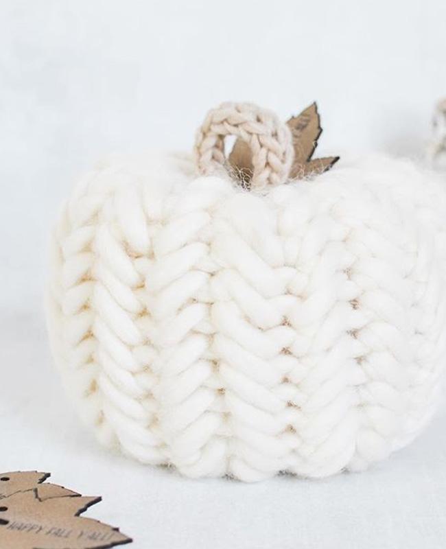citrouille crochet halloween blanche