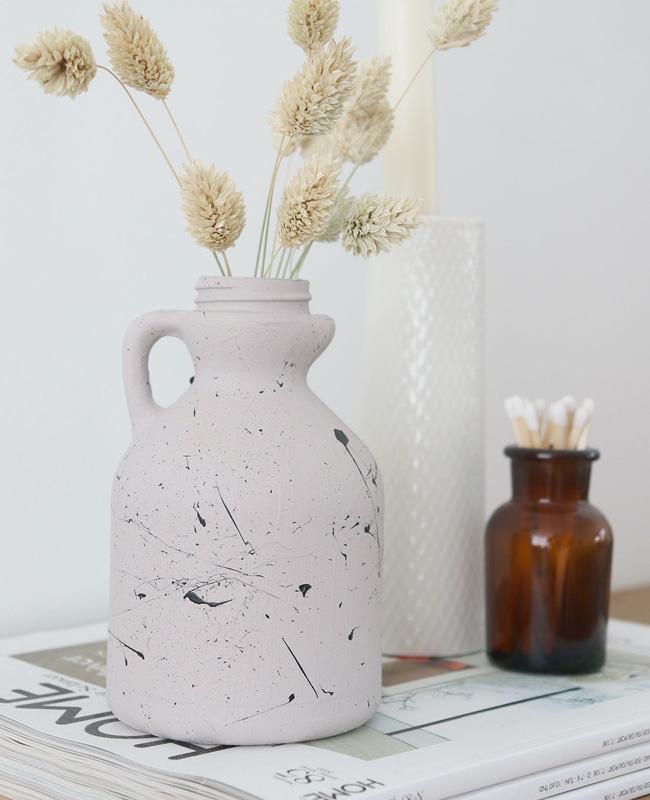 diy vase moucheté artisanal