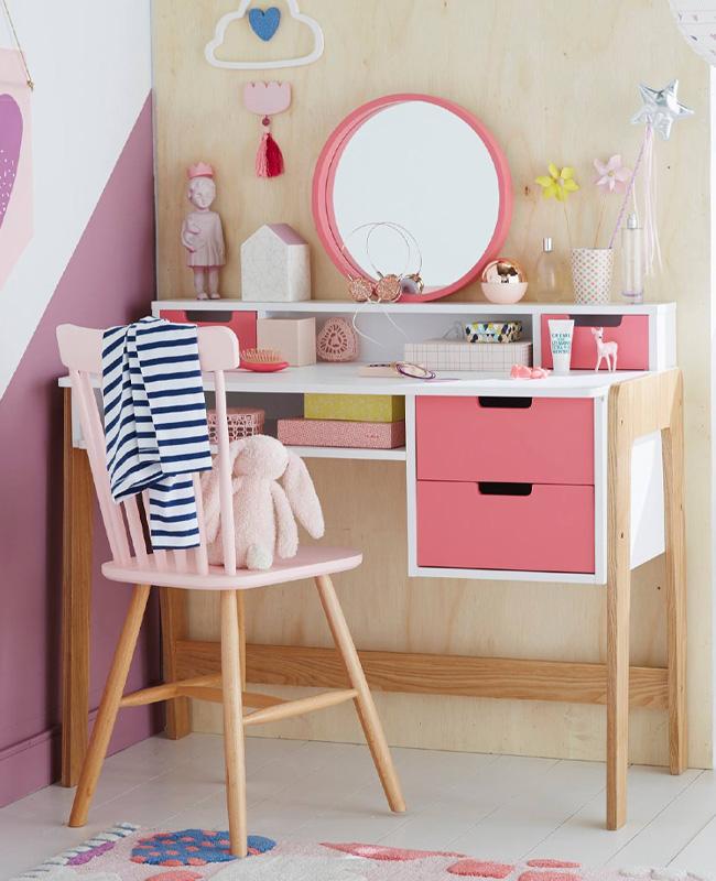 coiffeuse bureau rose bois