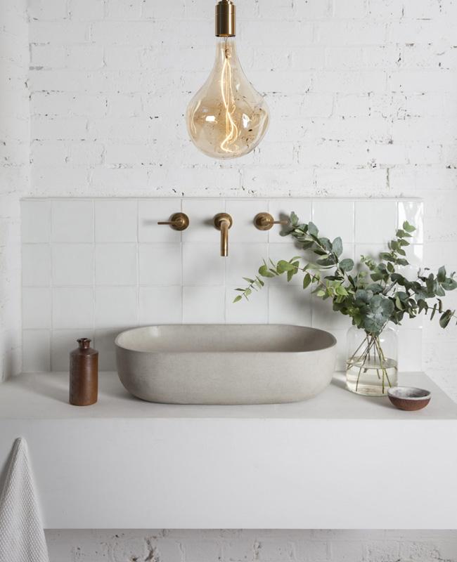 deco salle de bain zellige blanc
