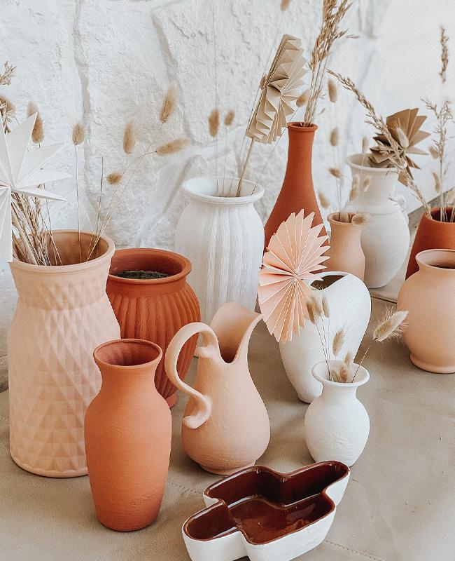 tuto vase texture terracotta