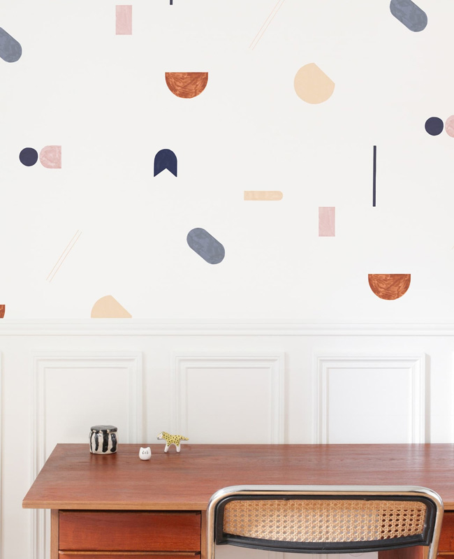 papier peint motif abstrait coloré heju