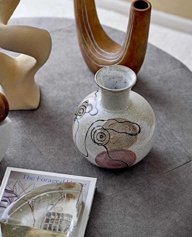 vase visage céramique artisanal