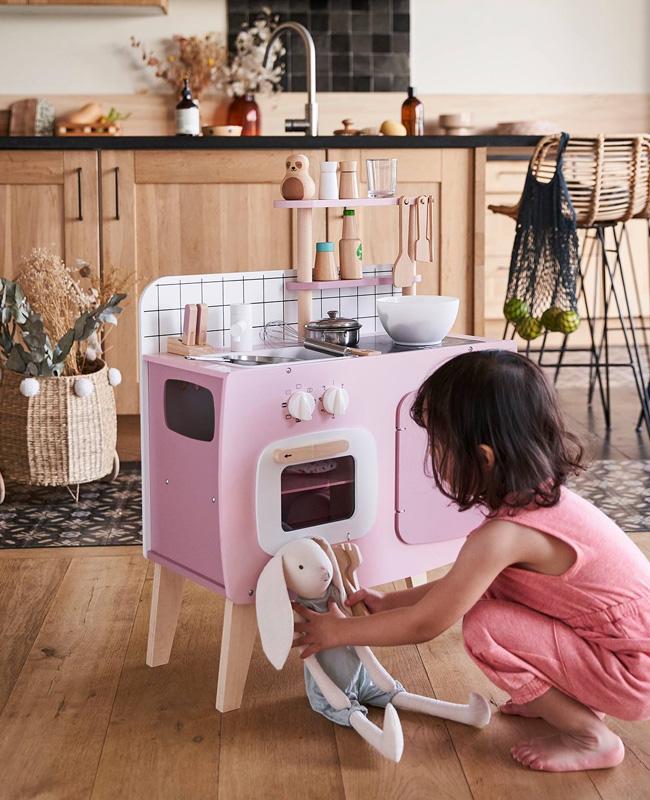 mini cuisine enfant rose
