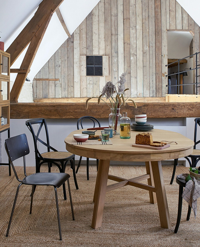 table ronde extensible bois