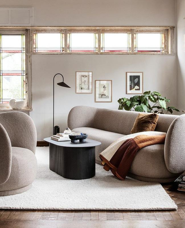 deco salon moderne canape bouclette