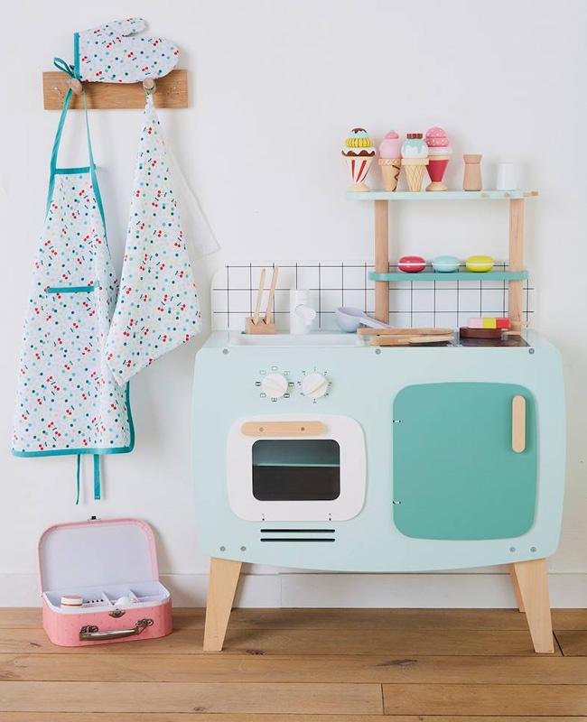 mini cuisine enfant vert