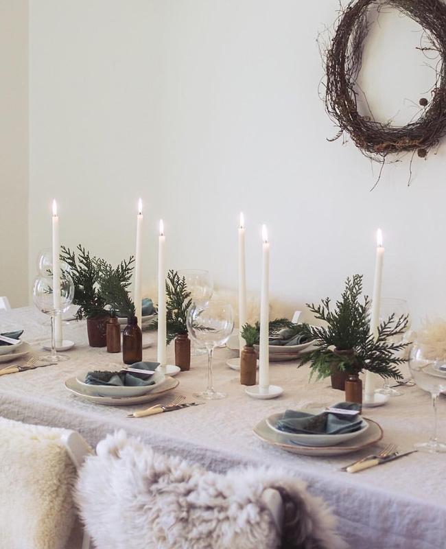 deco table noel nature minimaliste