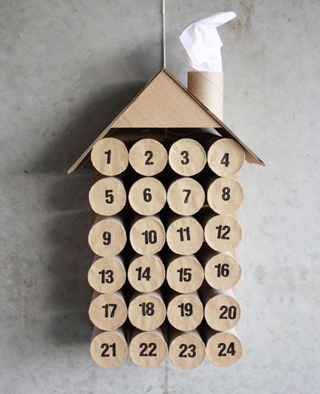 calendrier avent maison rouleau