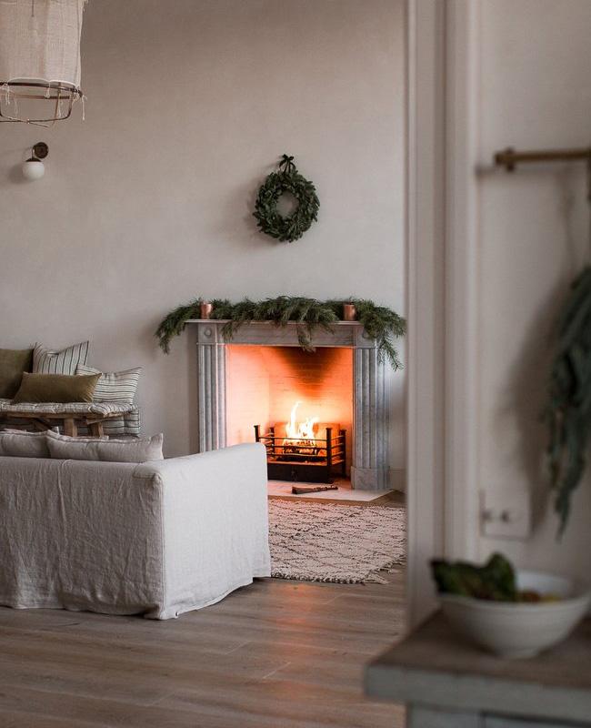 deco coin cheminee minimaliste