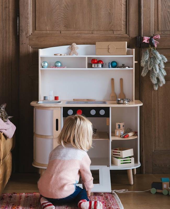 mini cuisine enfant bois blanc
