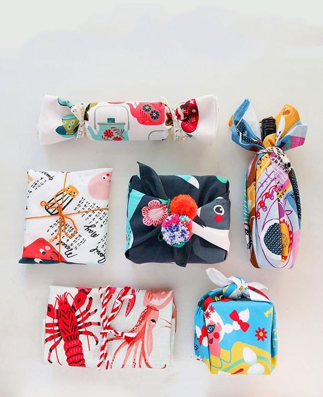 emballage cadeau diy tuto furoshiki torchon