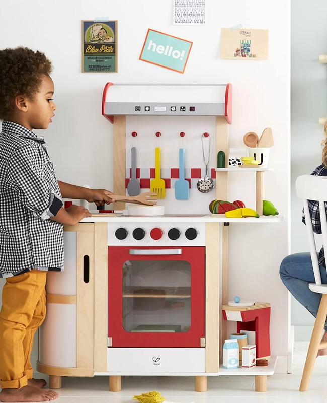 mini cuisine enfant rouge blanc