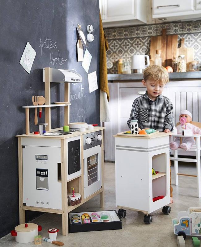 mini cuisine enfant desserte