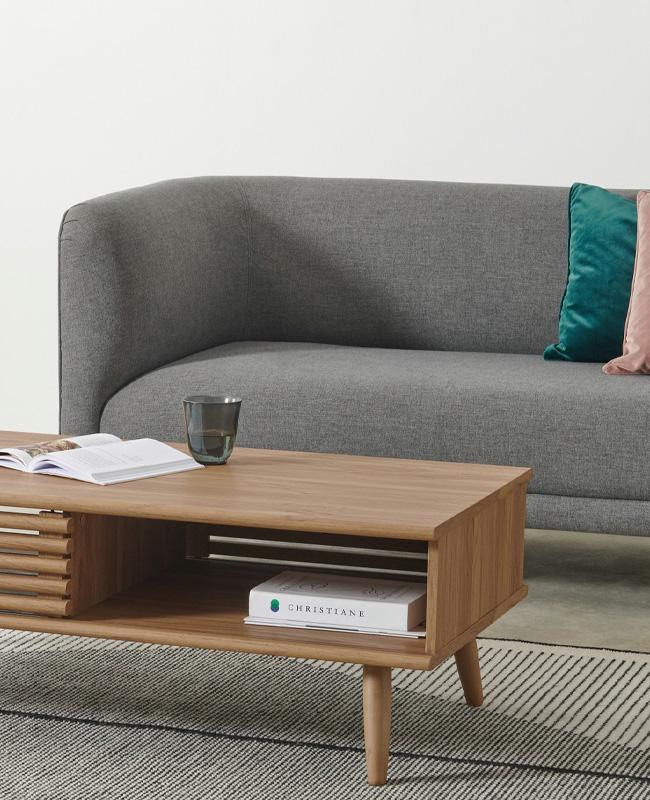 table basse bois niche rangement