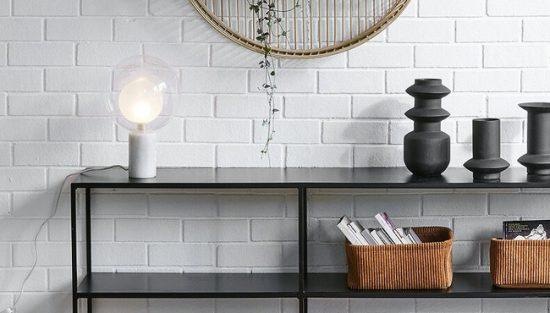 lampe moderne verre marbre arvin la redoute