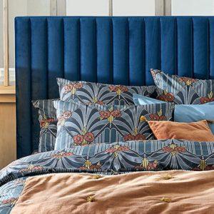 tete de lit velours bleu