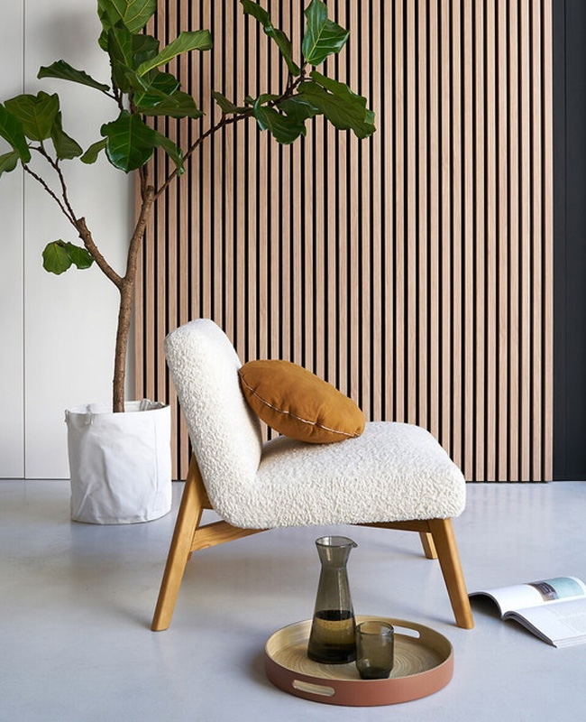 fauteuil bouclette scandinave