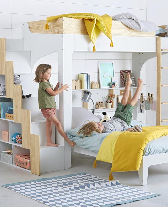 lit mezzanine enfant escalier