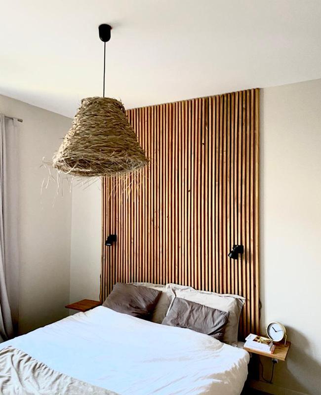 tete de lit tasseau bois tuto chambre