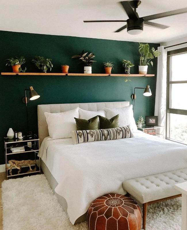 deco chambre boheme vert