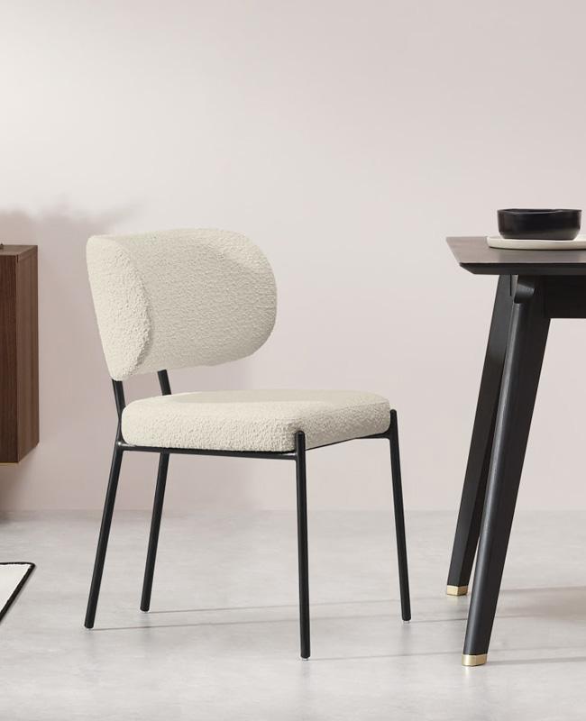 fauteuil table bouclette