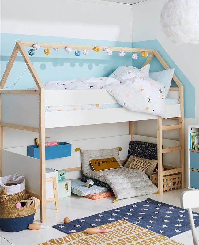 lit mi hauteur cabane enfant