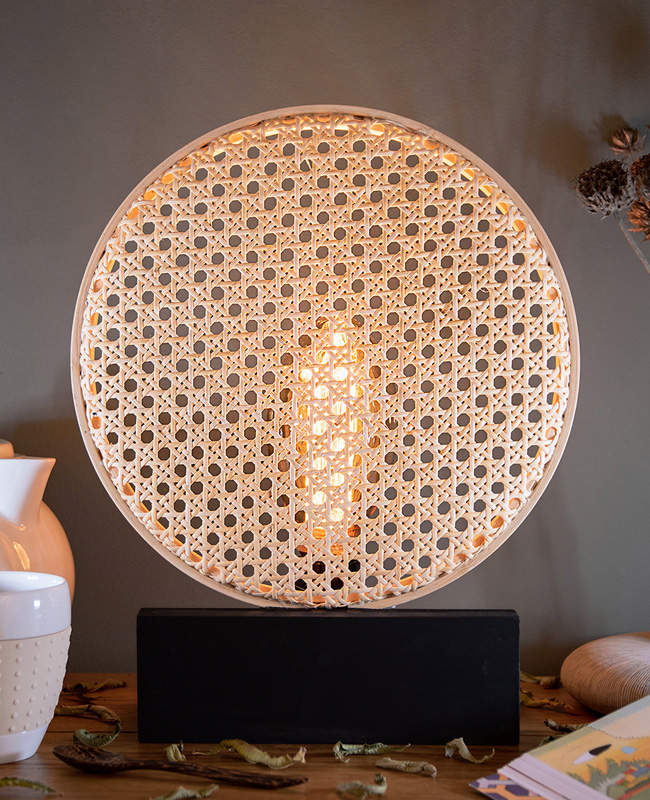 tuto lampe cannage