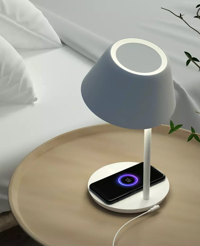 lampe chevet tactile chargeur sans fil
