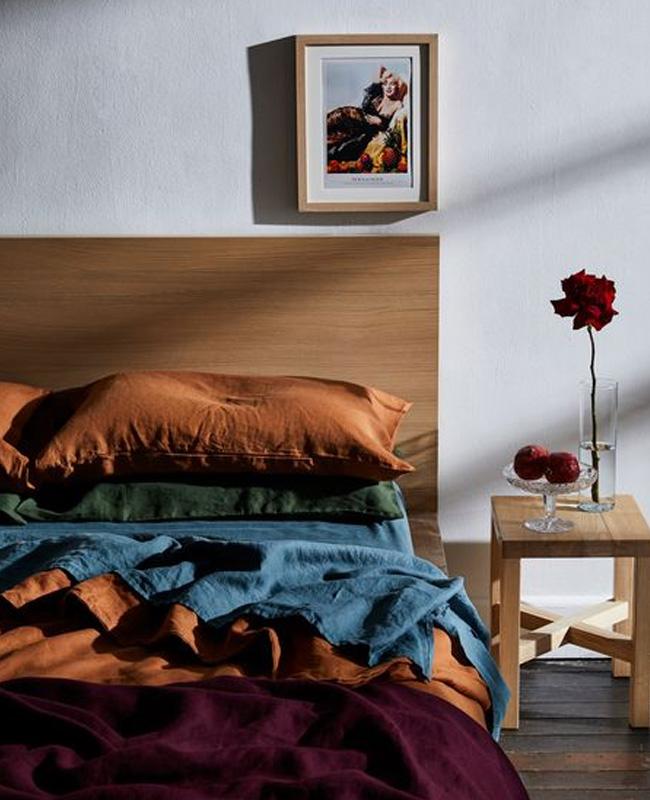 deco chambre bleu terracotta moderne