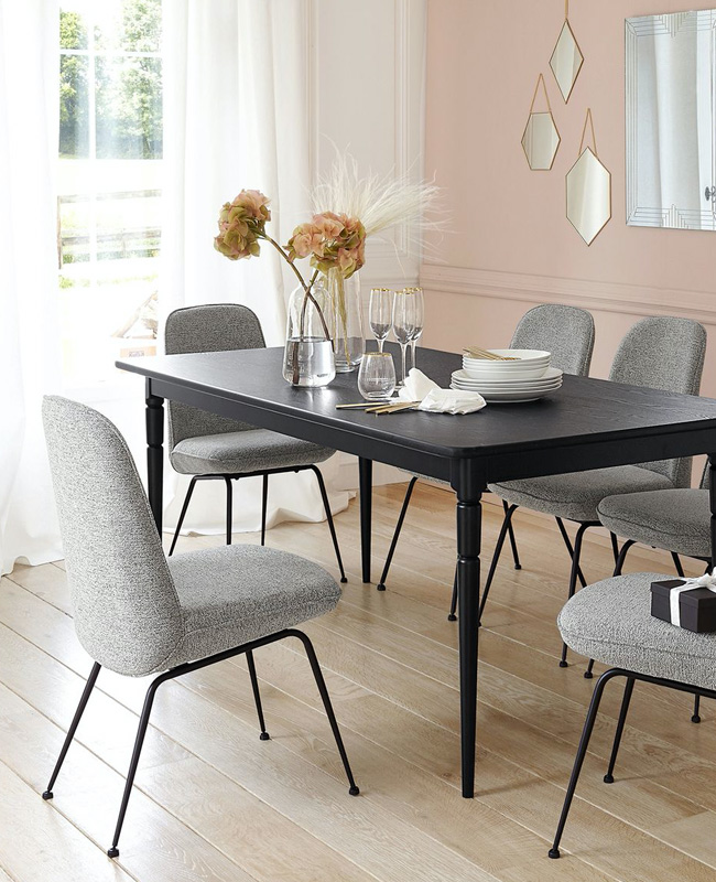 soldes la redoute chaise moderne grise