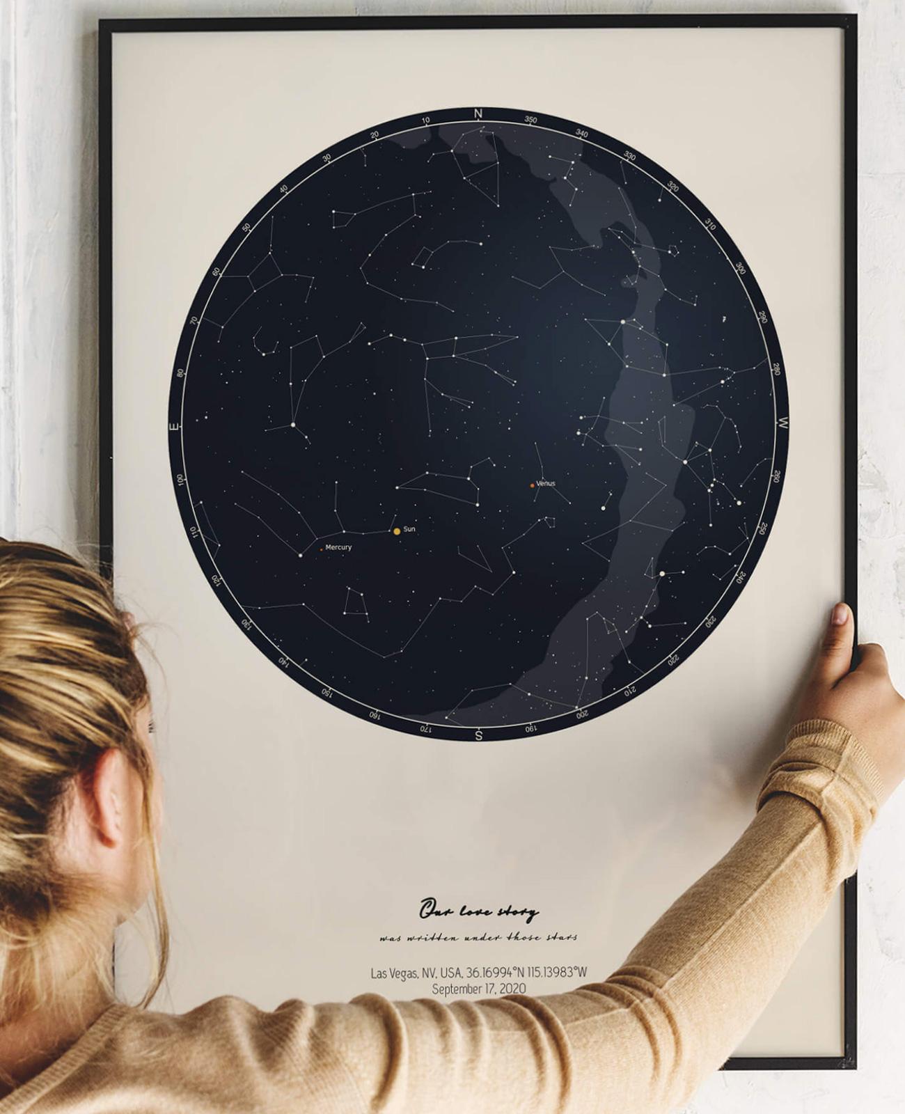 affiche ciel personnalisée positive prints
