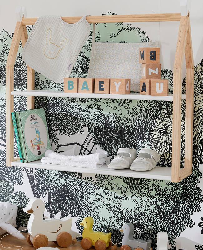 etagere murale enfant cabane