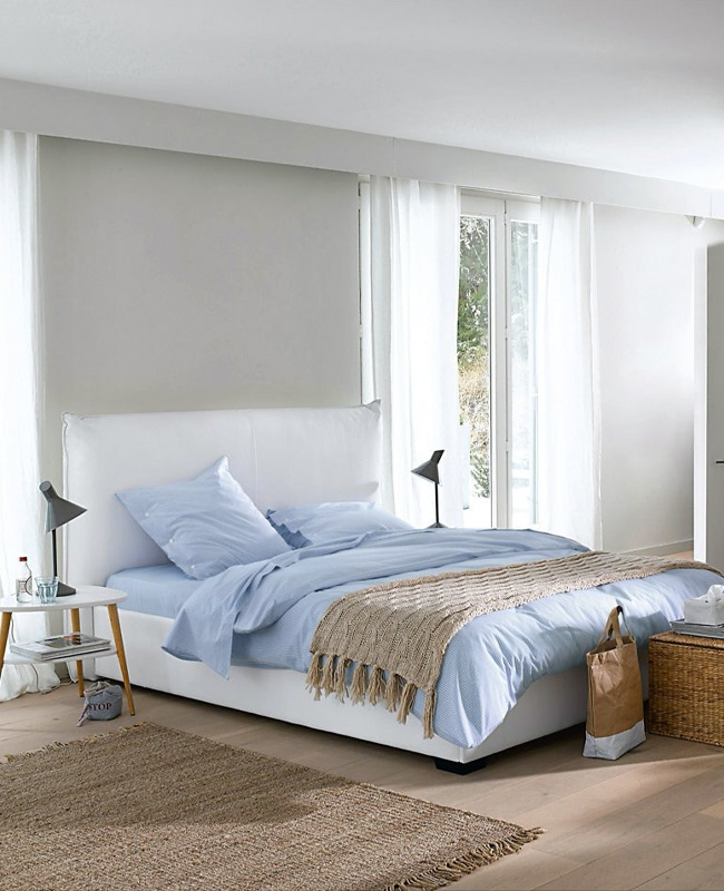 lit rangement blanc