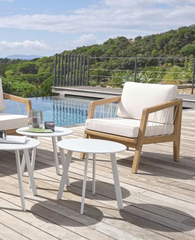 fauteuil jardin moderne corde