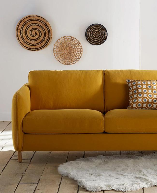 canape convertible jaune