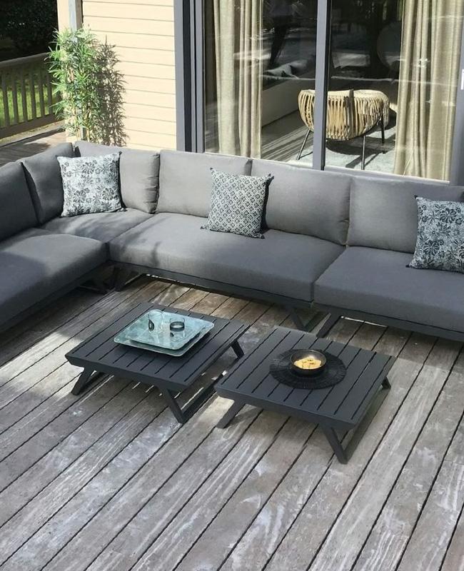 table basse aluminium jardin