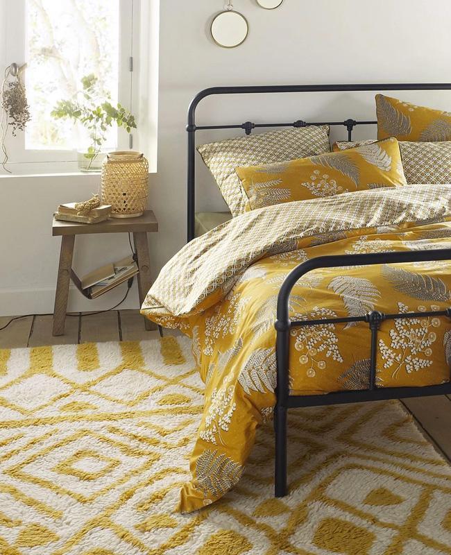 tapis berbère jaune ecru