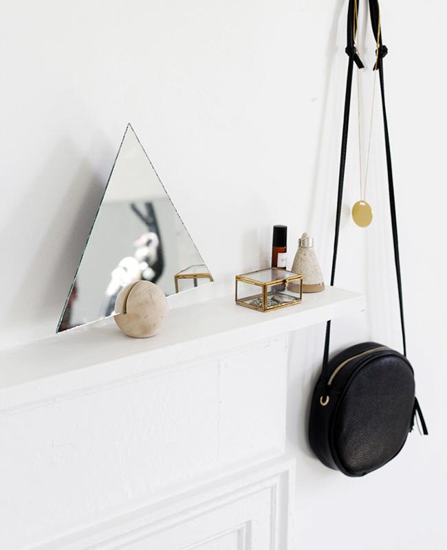 miroir maquillage diy triangle