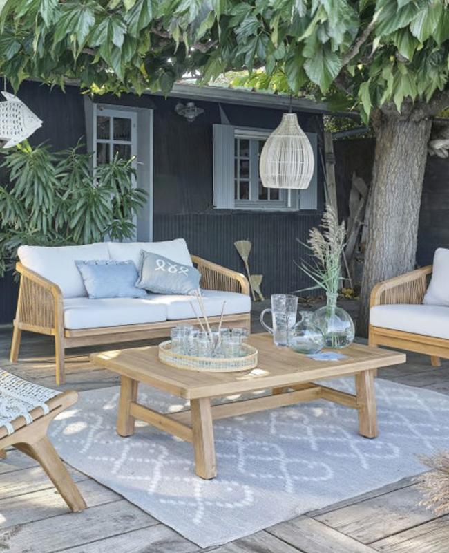 table basse jardin bois