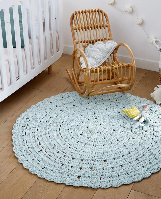 tapis rond enfant crochet