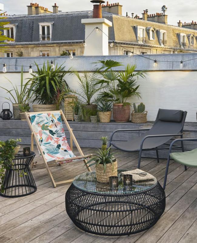 table basse jardin fil