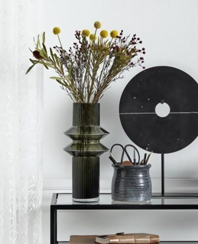 vase verre moderne vert