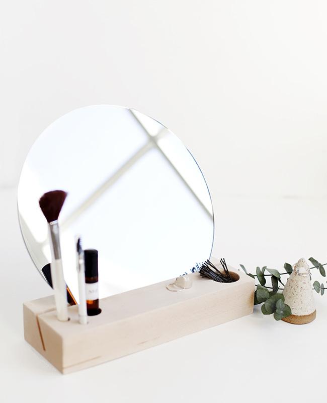 miroir maquillage diy rangement